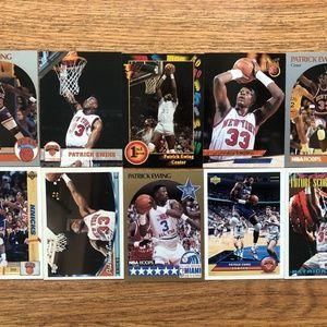 New York Knicks Patrick Ewing basketball cards lot